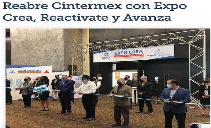 Reabre Cintermex con Expo Crea, Reactivate y Avanza